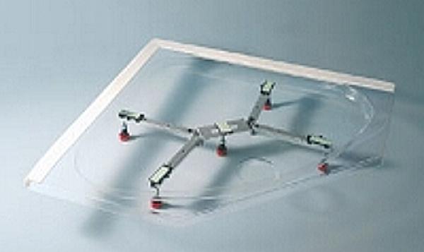Cool Acryl-Duschwanne 80 x 80 x 2,5 cm flach-280038080 RK51